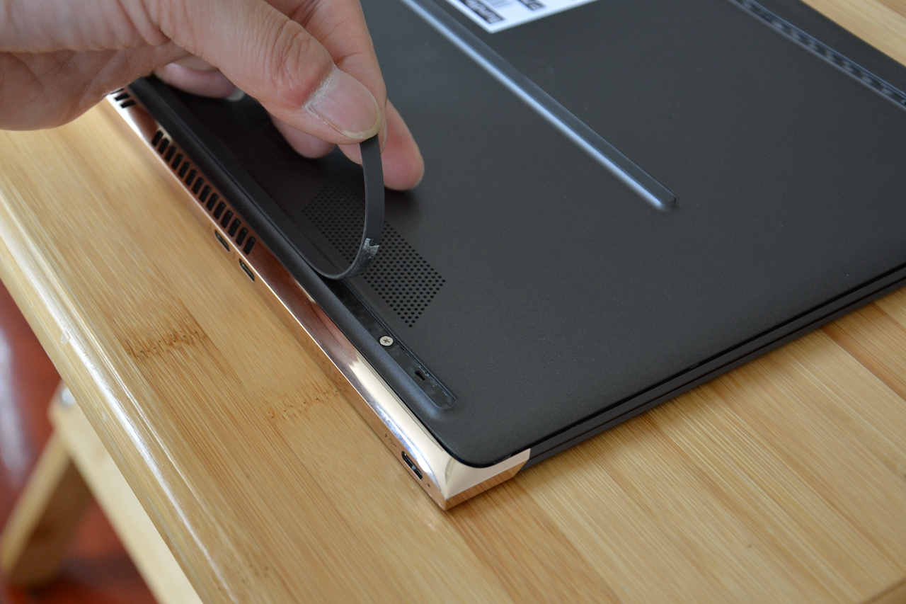 Remove all screws and you can remove the bottom cover easily