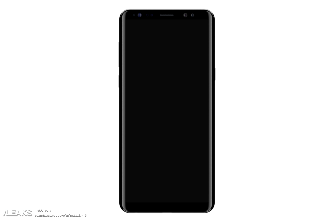 Samsung Galaxy Note 8 rendering