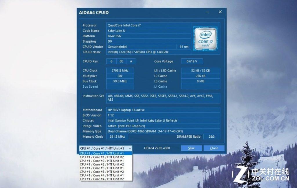 HP Envy 13-ad000 2017 i7-8550U