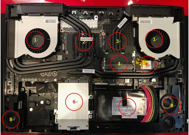 MSI GT75VR Titan Disassembly