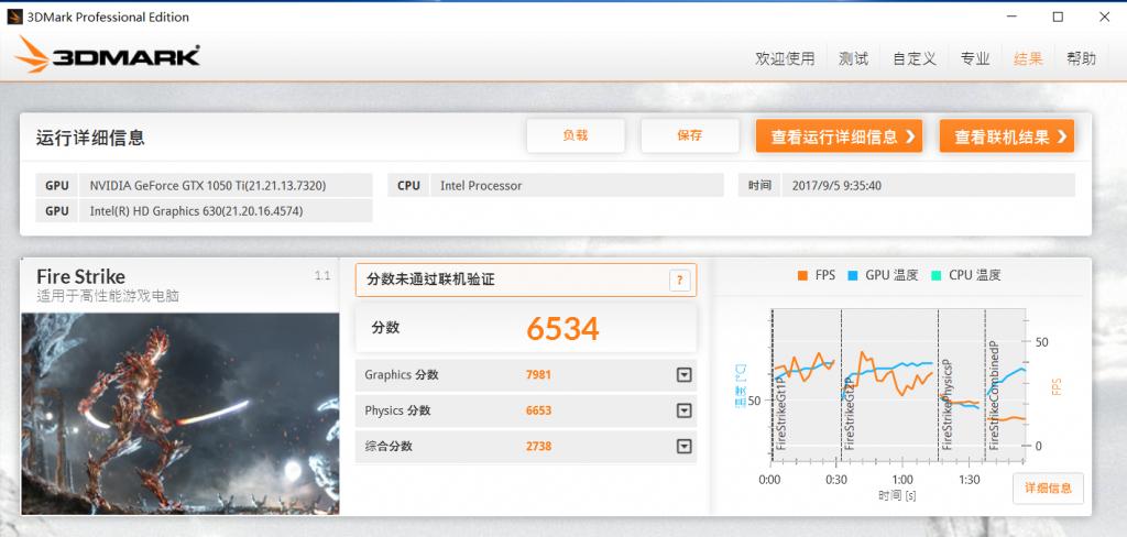 Dell Inspiron 15 7567 GPU performance test
