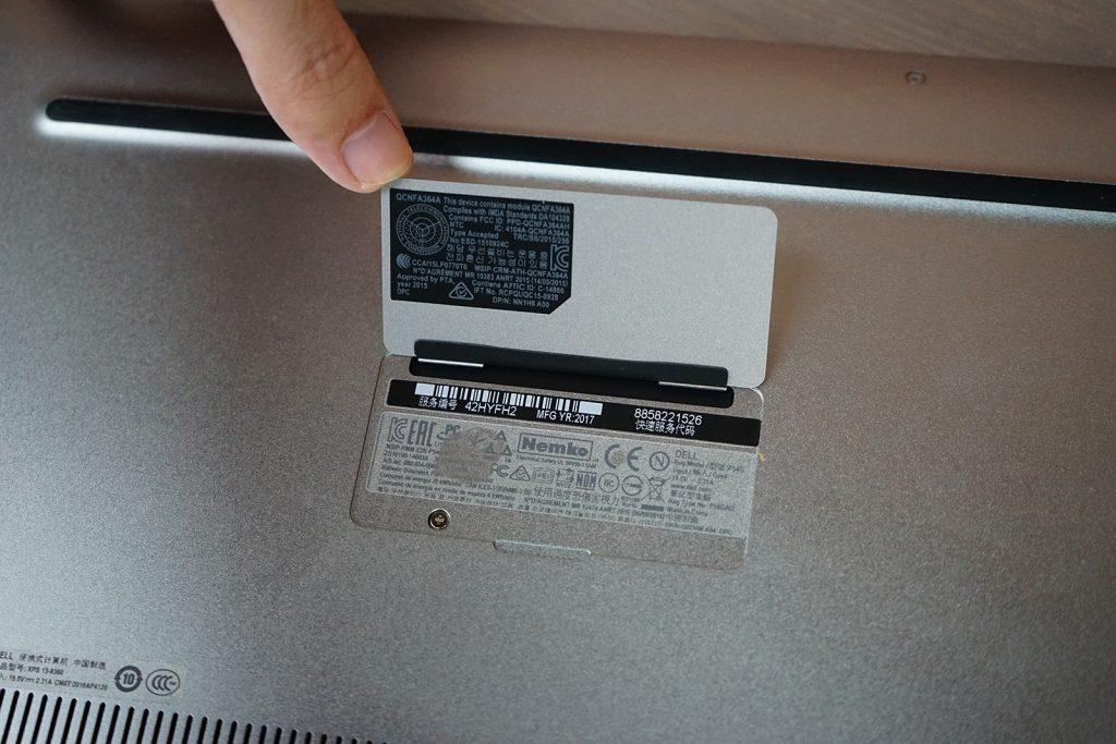 Dell XPS 13 9360 model number