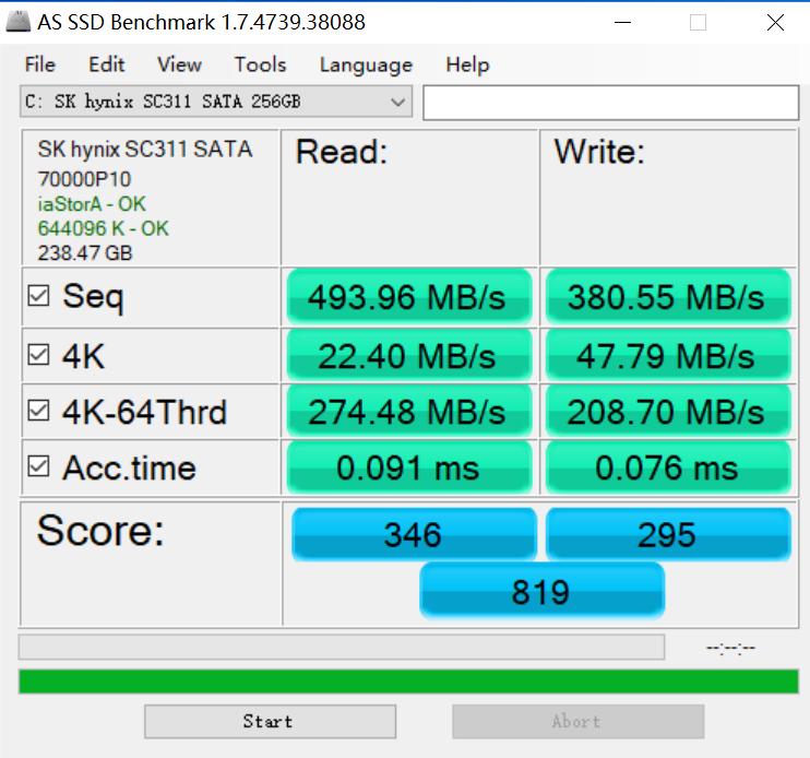 Dell Inspiron 13 7373 ssd benchmark