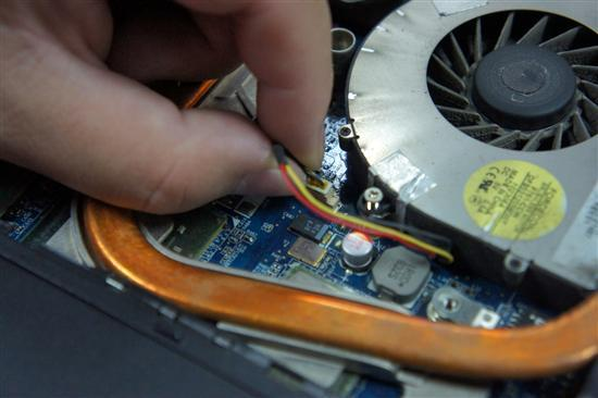 Disconnect the cooling fan cable