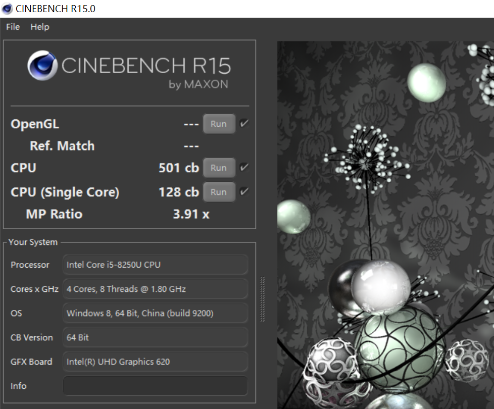 Acer Swift 5 SF514-52 Cinebench R15