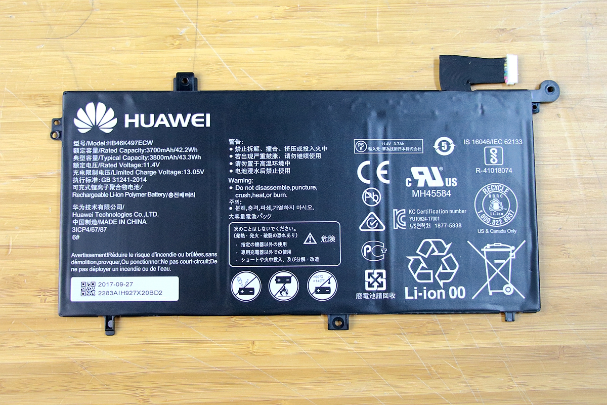 Huawei Matebook D 2018 Disassembly And Ssd Ram Hdd