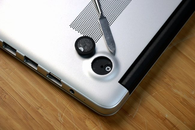remove the hidden screws