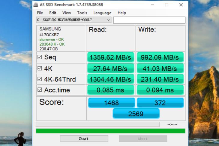 Lenovo ThinkPad A475 SSD Benchmark
