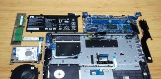 Huawei MateBook D (2018) internal picture
