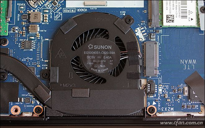 Dell Latitude 7390 heat sink and cooling fan