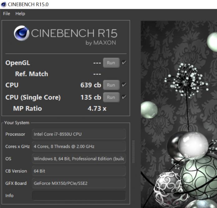 Intel's Core i7-8550U