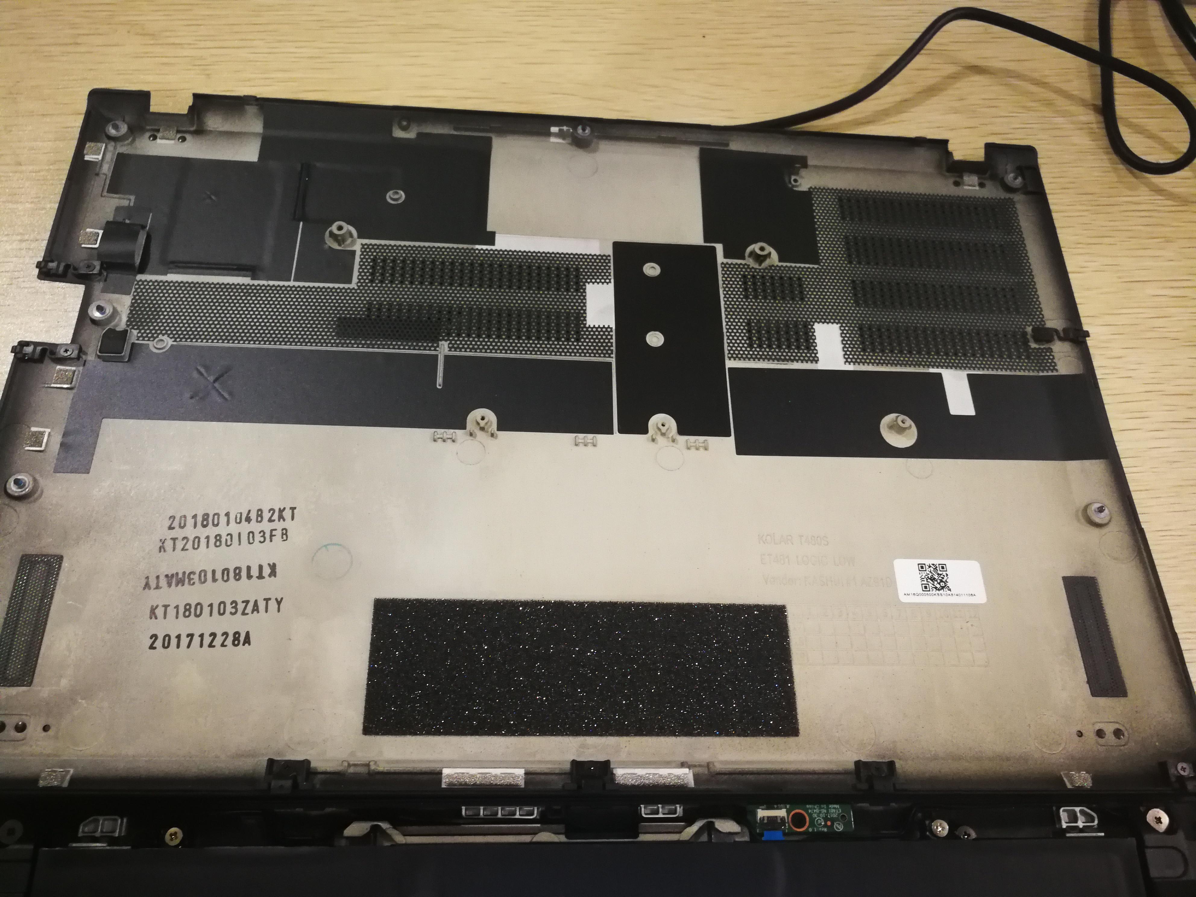 Lenovo ThinkPad T480s Disassembly (SSD, RAM Upgrade Options