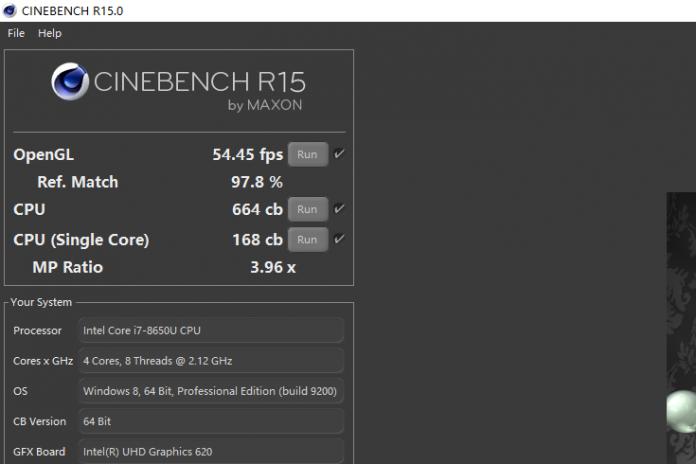 Lenovo ThinkPad X1 Carbon 2018 CineBench R15