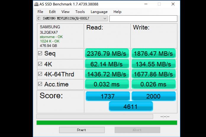 SSD speed
