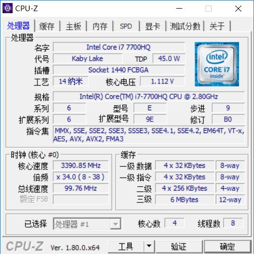i7-7700HQ