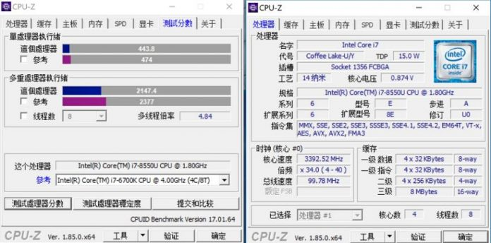 processor test on CPU-Z