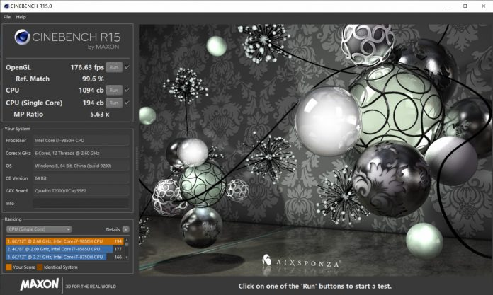 score on CineBench R15