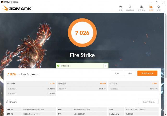 GPU's score on 3DMark